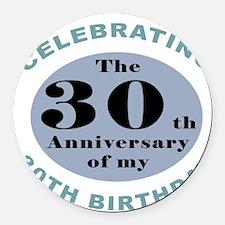 Funny 60th Birthday Round Car Magnet