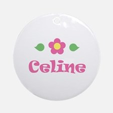 "Pink Daisy - ""Celine"" Ornament (Round)"