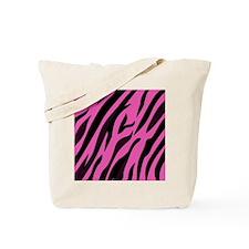 Black/Pink Zebra Print Tote Bag