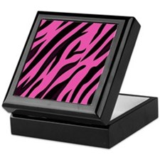 Black/Pink Zebra Print Keepsake Box