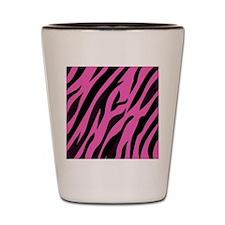 Black/Pink Zebra Print Shot Glass