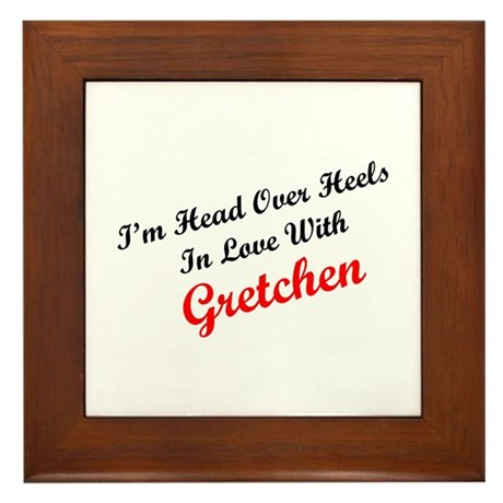 In Love with Gretchen Framed Tile