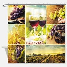 Vineyard Collage Shower Curtain