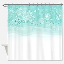 Winter Snow Shower Curtain