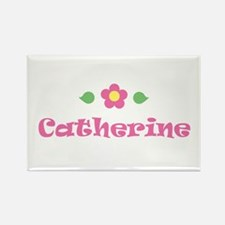 """Pink Daisy - """"Catherine"""" Rectangle Magnet"""