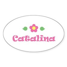 """Pink Daisy - """"Catalina"""" Oval Decal"""