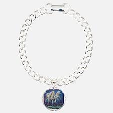 White Horses Running on  Bracelet