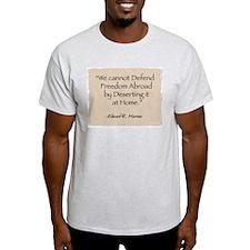 Ash Grey T-Shirt: Defend-Murrow