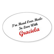 In Love with Graciela Oval Decal