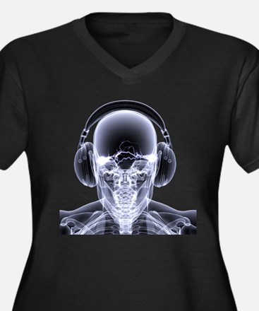 DJ Skeleton Plus Size T-Shirt