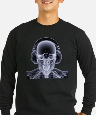 DJ Skeleton Long Sleeve T-Shirt