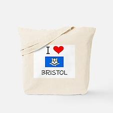 I Love Bristol Connecticut Tote Bag
