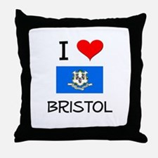 I Love Bristol Connecticut Throw Pillow