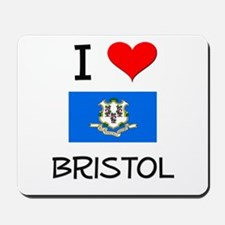 I Love Bristol Connecticut Mousepad