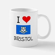 I Love Bristol Connecticut Mugs