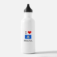 I Love Bristol Connecticut Water Bottle