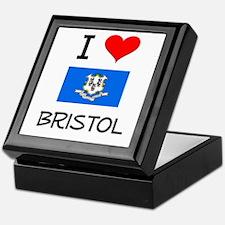 I Love Bristol Connecticut Keepsake Box