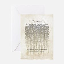 DESIDERATA Poem on Peace Lillies Greeting Card