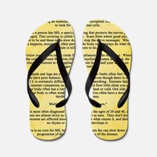 Multiple Sclerosis Awareness Ribbon Def Flip Flops