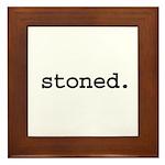 stoned. Framed Tile