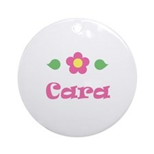 "Pink Daisy - ""Cara"" Ornament (Round)"