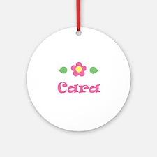 "Pink Daisy - ""Cara"" Ornament (Round)"