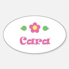 """Pink Daisy - """"Cara"""" Oval Decal"""