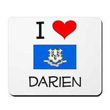I Love Darien Connecticut Mousepad