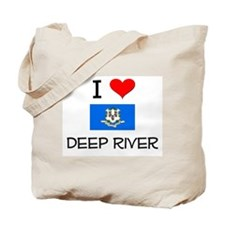 I Love Deep River Connecticut Tote Bag