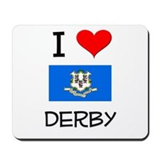 I Love Derby Connecticut Mousepad