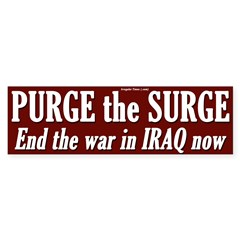 Purge the Surge bumper sticker