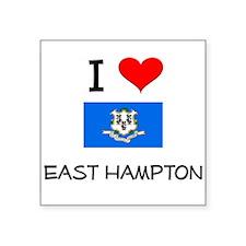 I Love East Hampton Connecticut Sticker