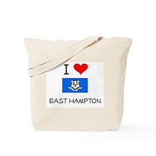 I Love East Hampton Connecticut Tote Bag