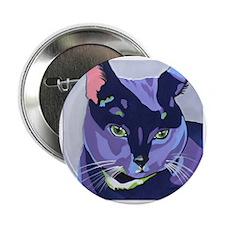 """Purple Kitty 2.25"""" Button"""