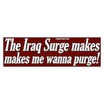 The Surge Makes Me Wanna Purge Sticker