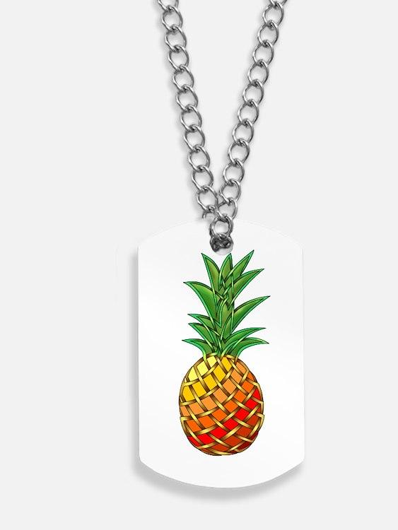 Pineapple Dog Tags