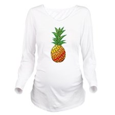 Pineapple Long Sleeve Maternity T-Shirt