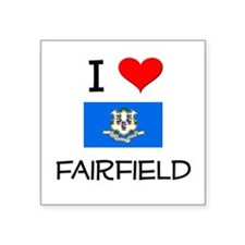 I Love Fairfield Connecticut Sticker