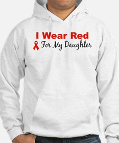 I Wear Red For My Daughter Hoodie