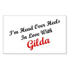 In Love with Gilda Rectangle Decal