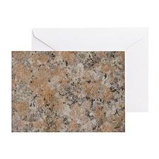 Pink Granite Greeting Card