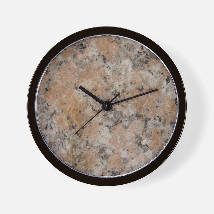 Pink Granite Wall Clock