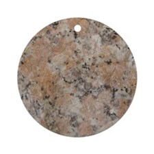 Pink Granite Round Ornament