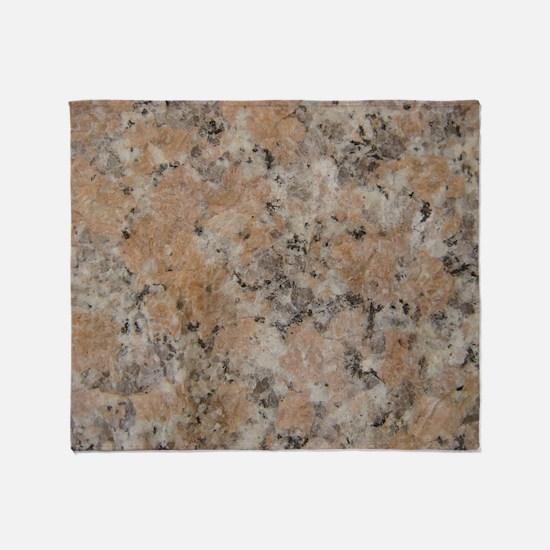 Pink Granite Throw Blanket