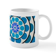 Circles and Dots Blue Mug