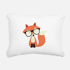 Hipster Red Fox Rectangular Canvas Pillow
