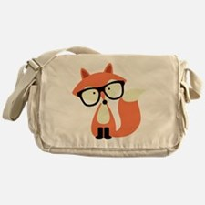 Hipster Red Fox Messenger Bag