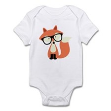 Hipster Red Fox Infant Bodysuit