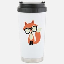 Hipster Red Fox Travel Mug