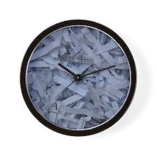 Shredded paper Wall Clock